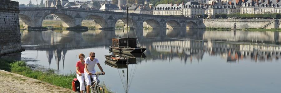 En tandem sur les bords de la Loire, à Blois