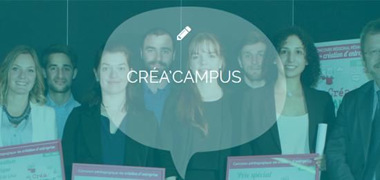 Entrepreneuriat – Créa Campus 2018 : remise des prix (8 juin)