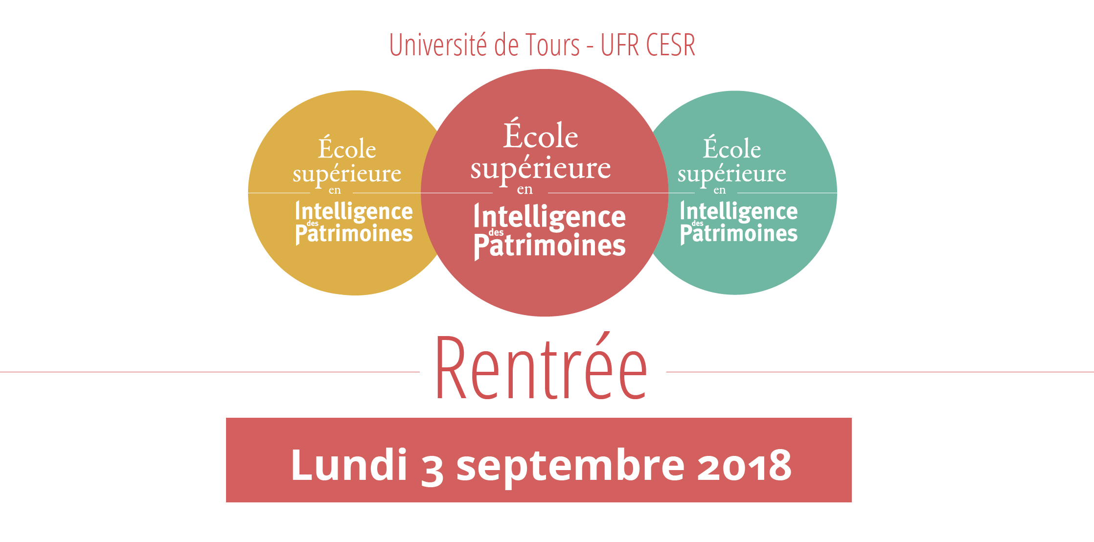 Rentrée 2018 – École Supérieure en Intelligence des Patrimoines (lundi 3 septembre)