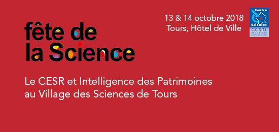 Le CESR et Intelligence des Patrimoines au Village des Sciences (Fête de la Science 2018)