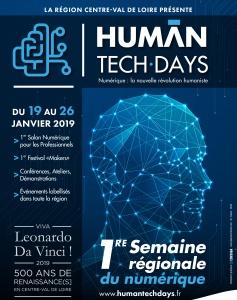 HUMAN TECH DAYS : Intelligence des Patrimoines au 1er Salon Numérique en Région Centre-Val de Loire (24 janvier 2019, Tours)
