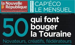[ON PARLE DE NOUS] Le Smart Tourisme Lab dans le CAP'ECO « 50 qui font bouger la Touraine » (La Nouvelle République Indre-et-Loire, septembre 2019)