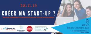 [Journée de sensibilisation] Créer ma start-up ? (28 novembre 2019, Tours)