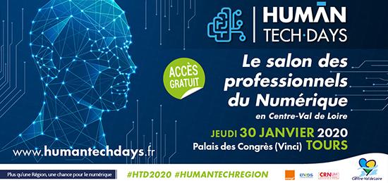 HUMAN TECH DAYS 2020 : Intelligence des Patrimoines au Salon des professionnels du Numérique (30 janvier 2020, Tours)
