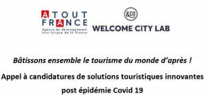 [Appel à candidatures] Solutions touristiques innovantes post Covid-19