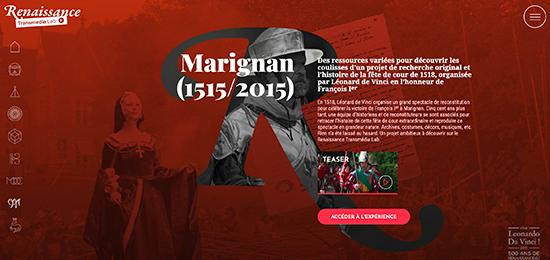 « Marignan (1515/2015) » est en ligne sur le Renaissance Transmédia Lab> renaissance-transmedia-lab.fr