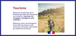 [Retour sur] Webinaire « Tourisme à la campagne : partageons notre ambition » de la Direction Générale des Entreprises (15 octobre 2020)