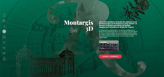 Montargis 3D : une nouvelle visite virtuelle, guidée, des jardins du château de Montargis à la Renaissance !