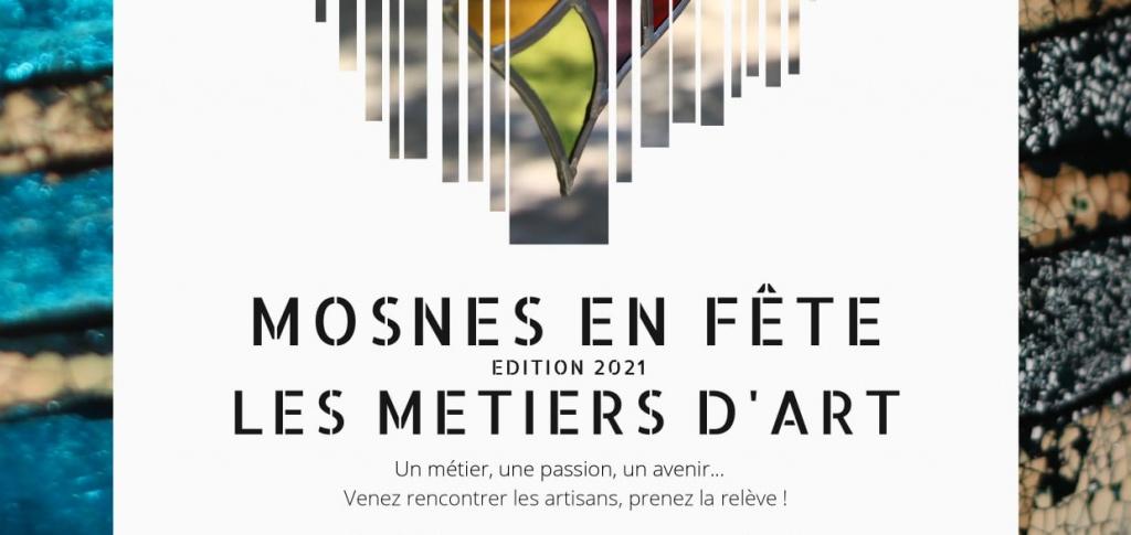 [Save the date & participation] Mosnesenfête – 2<sup>e</sup>édition duvillage desmétiers d'art, despatrimoines et delagastronomie (Mosnes, 10-12septembre2021)